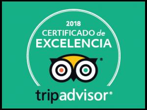 Certificado de Excelencia 2018 EXIT/SALIDA Escape room